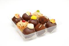 Snoepjes in doos royalty-vrije stock fotografie