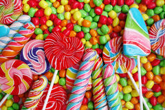 Snoepjes en kleurrijke suikersuikergoed Royalty-vrije Stock Foto's