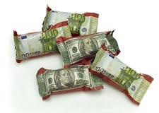 Snoepjes - geld Stock Foto