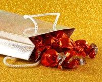 Snoepjes in giftzak royalty-vrije stock fotografie