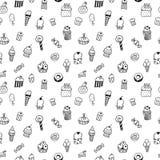 Snoepjes naadloos patroon Royalty-vrije Stock Afbeelding