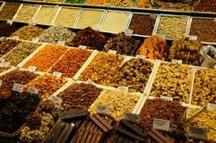 Snoepjes voor verkoop in Barcelona Spanje royalty-vrije stock foto