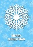 Snoflakes della cartolina d'auguri di Natale Fotografia Stock