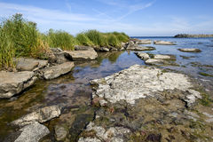 Snogebaek, beach Bornholm, Denmark Royalty Free Stock Photography