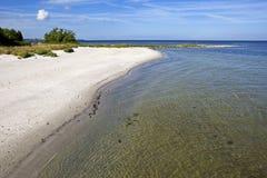 Snogebaek, spiaggia Bornholm, Danimarca Fotografia Stock Libera da Diritti