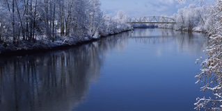 Snohomish River in Snohomish County Washington. Royalty Free Stock Photo