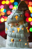 Snoman on the christmass tree Royalty Free Stock Photo