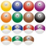snooker биллиарда шариков Стоковые Фото