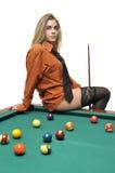 snooker девушки Стоковая Фотография RF
