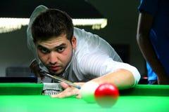 snooker игрока стоковое изображение