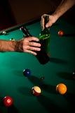 snooker пива выпивая Стоковые Фото