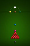 Snooker. Game playing set arrangement Royalty Free Stock Images