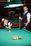 snooker stock foto's