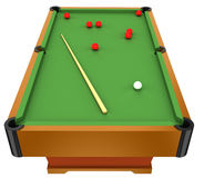 Snooker. Billiard table and snooker balls isolated on white background Stock Image
