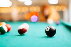 Snooker acht Lizenzfreies Stockfoto