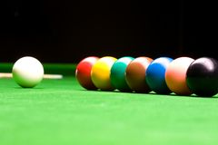 Snooker all the colors. On the table Stock Image