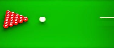 Snooker-Anfang Lizenzfreie Stockfotografie