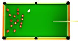 Snooker-Anfang Lizenzfreies Stockfoto