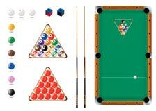 Snooker, associação, ícones do esporte Foto de Stock Royalty Free