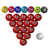 Snooker ball. S in white background Stock Images