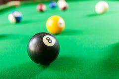 Snooker ball on billiard table Royalty Free Stock Photos
