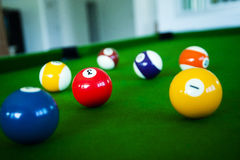 Snooker ball. Close up snooker ball in game royalty free stock photo