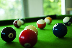 Snooker ball. Close up snooker ball in game royalty free stock image
