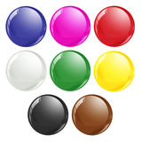 Snooker Ball Colours. As generally used in professional snooker games. Seperated for various uses and design interpretation Stock Photography