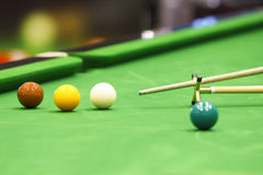 Snooker ball and rest stick Stock Image