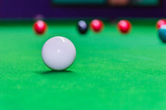 Snooker ball on snooker table.  stock image