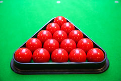 Snooker ball on snooker table, Snooker or Pool game on green table, International sport Stock Photography