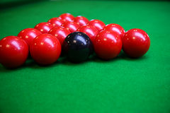 Snooker ball on snooker table, Snooker or Pool game on green table, International sport Stock Images