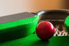 A snooker ball is on the table. royalty free stock photo