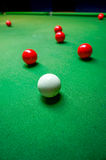 Snooker ball. On the table Stock Photo