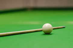Snooker ball on table Stock Photo