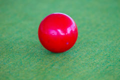 Snooker ball on table Royalty Free Stock Images