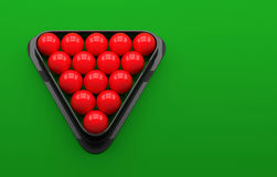 Snooker ball on the table. 3D Illustration Royalty Free Stock Photography