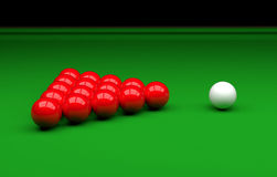 Snooker ball on the table. 3D Illustration. Snooker ball on the table Stock Image