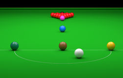 Snooker ball on the table. 3D Illustration. Snooker ball on the table Royalty Free Stock Photo