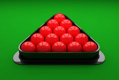 Snooker ball on the table. 3D Illustration. Snooker ball on the table Royalty Free Stock Image