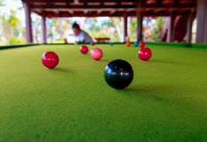 Snooker ball on the table Royalty Free Stock Images