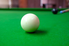 Snooker ball on the table Royalty Free Stock Photo