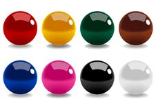 Snooker Balls. Stock illustration of snooker balls isolated on white Royalty Free Stock Image