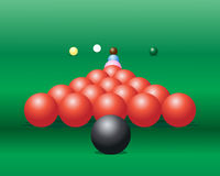 Snooker balls Stock Images