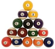 Snooker Balls. Hand made clipping path included stock photography