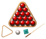 Free Snooker Balls And Stick Stock Photography - 61013272