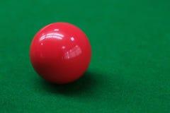 Snooker balls on green snooker table Stock Photo