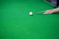 Snooker balls on green snooker table Royalty Free Stock Image