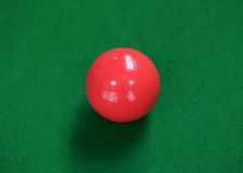 Snooker balls on green snooker table Royalty Free Stock Images