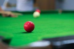 Snooker balls on green snooker table Royalty Free Stock Photos